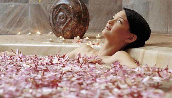 Ванна при лечении головной боли