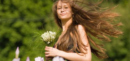 Красивые натуральные волосы