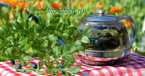 Фито-чай из листьев черники