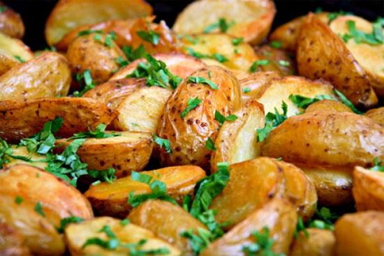 Калий в печеном картофеле