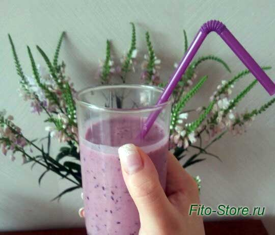 """Вкуснейший рецепт фруктово-молочного смузи """"Сиреневый рай"""""""